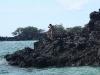 black lava cliffs